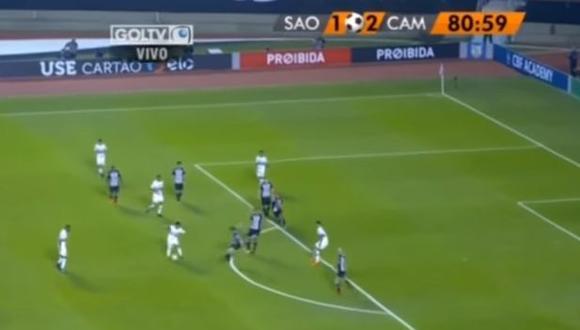 Christian Cueva fue determinante para evitar la caída de Sao Paulo ante Atlético Mineiro por el Brasileirao. El peruano brindó un notable pase de gol a Diego Souza. (Foto: captura)