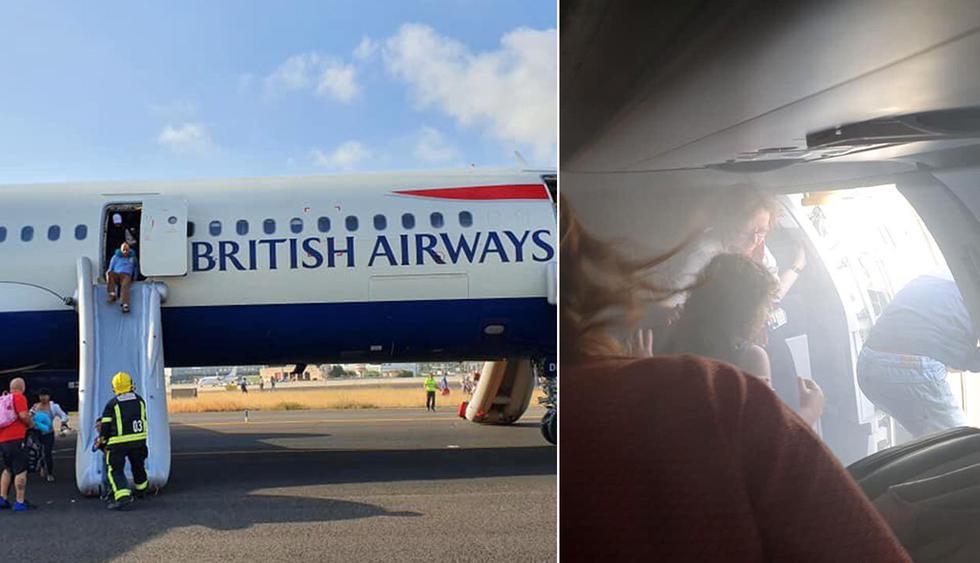 Avión de British Airways aterrizó en Valencia  con un motor en llamas. (Foto: Twitter @lucyaabrown)