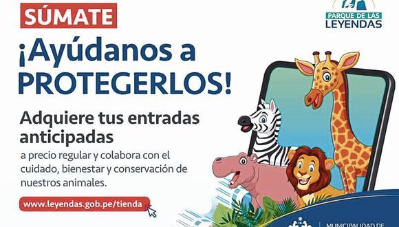 Campaña a favor de los animales del Parque de las Leyendas y el Zoológico de Huachipa