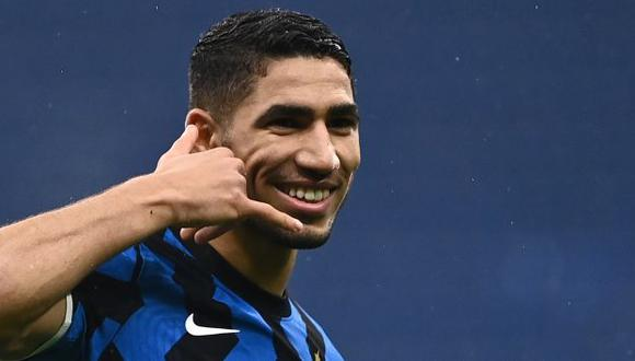 Achraf Hakimi llegó de Real Madrid a Inter de Milán por 40 millones de euros. (Foto: AFP)