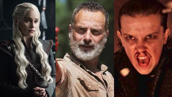 Game of Thrones, The Walking Dead y Stranger Things están entre las series del momento que pueden verse online gratis si sabes cómo (Foto: HBO / AMC / Netflix)