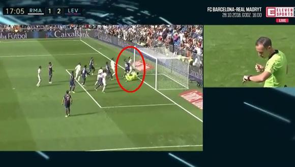 Real Madrid vs. Levante: árbitro se apoyó en el VAR para anular este golazo de Asensio | VIDEO. (Foto: Captura de pantalla)