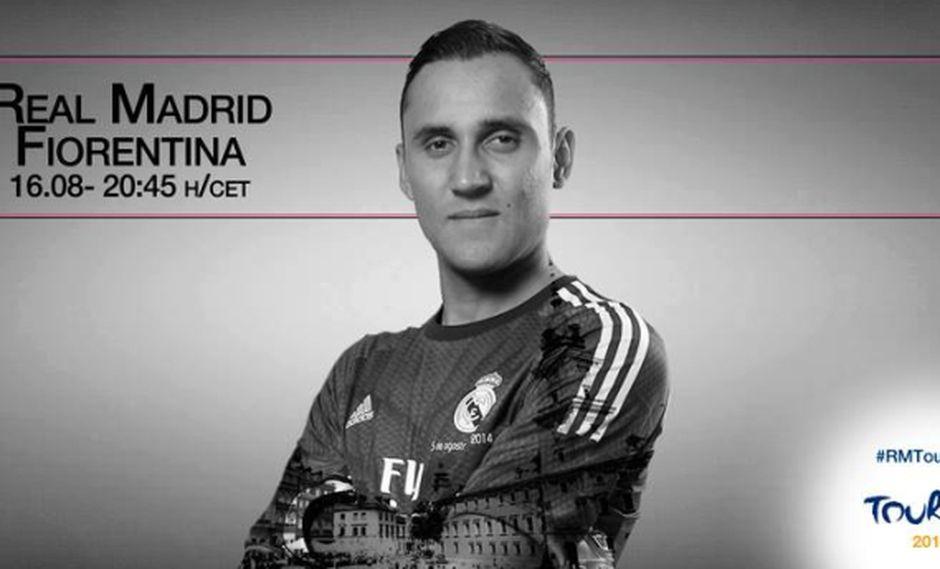 Real Madrid enfrenta mañana a Fiorentina con Navas como titular