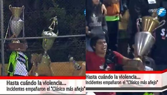 Increíble: hinchas de Olimpia robaron trofeos de Guaraní