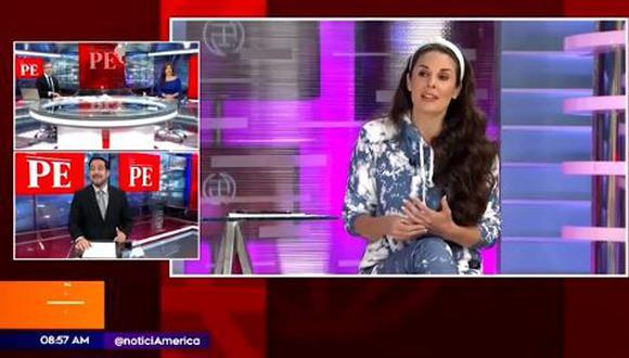 Verónica Linares y su comentario a Rebeca Escribens por su vestuario. (Foto: captura de video)
