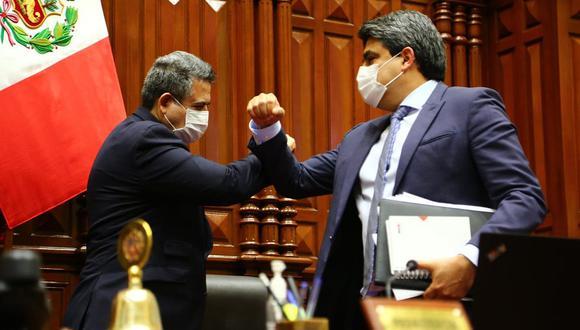 Solo el 38% de los 130 congresistas participó en la sesión donde se interpeló al ministro de Educación, Martín Benavides. El escenario de censura se manejó dentro de más de una bancada, pero sin mayor fuerza. (Foto: Congreso)