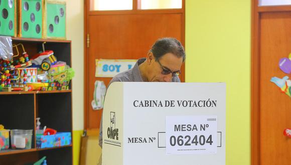 """El presidente Martín Vizcarra afirmó que """"no hay vencedores ni vencidos"""", tras los resultados del referéndum. (Foto: Presidencia)"""