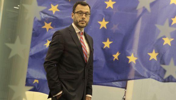 """""""Nuestro mensaje desde Europa es que la nueva normalidad también tiene que implicar la posibilidad de viajar"""", señala Diego Mellado, embajador de la UE en el Perú. (Foto: Diana Chávez)"""