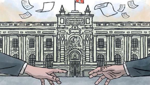 La mayoría de los casos se encuentra a la espera en la Subcomisión de Acusaciones Constitucionales. (Ilustración: Víctor Aguilar / El Comercio)