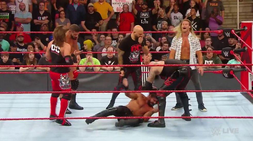 Seth Rollins vs. Robert Roode. (Foto: Twitter)