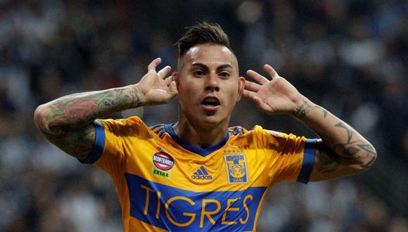 Eduardo Vargas. El chileno llegó al Tigres de la UANL en 2017 luego de jugar en el Hoffenheim, Valencia, Queens Park Rangers y Napoli. (Foto: Reuters)