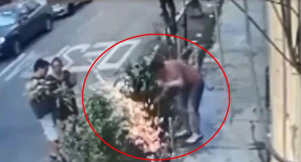 Un hombre recibió una descarga eléctrica tras golpear un cable subterráneo que estaba en su jardín.