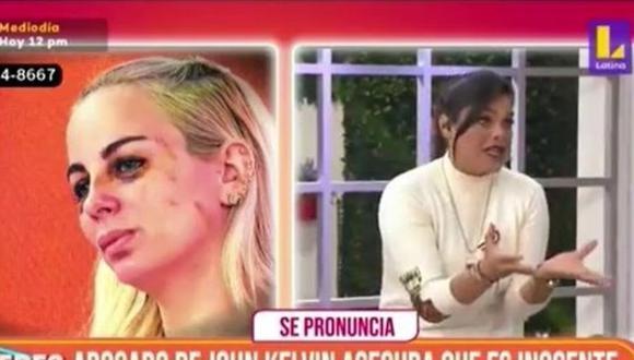Giovanna Valcárcel y su peculiar reacción a las declaraciones del abogado de John Kelvin. (Foto: Captura de video)