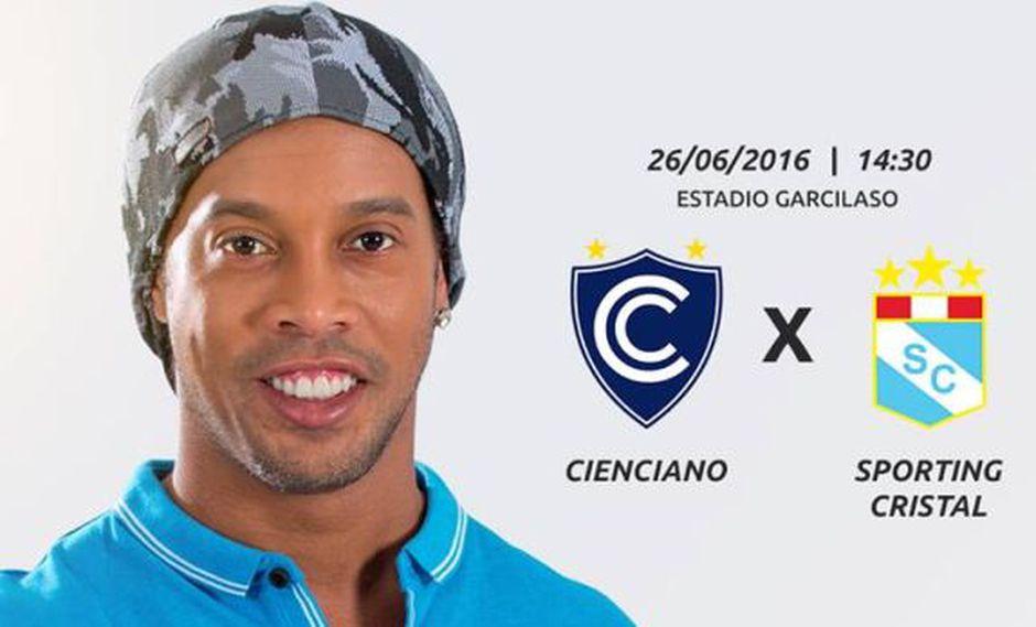 Ronaldinho lanza concurso con el que anima a fans de Cienciano