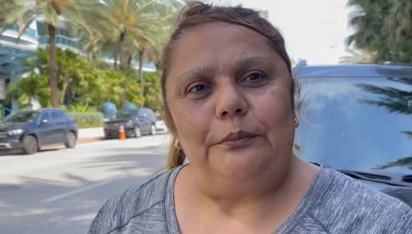Jannet Rodriguez presenció el derrumbe parcial del edificio Champlain Towers South, en Miami. (Foto: captura de pantalla | CNN)