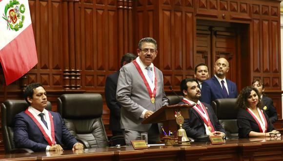 El presidente del Congreso, Manuel Merino de Lama, resaltó que la citación al exministro del Interior Carlos Morán se mantiene en la Comisión de Fiscalización. (Foto:GEC)