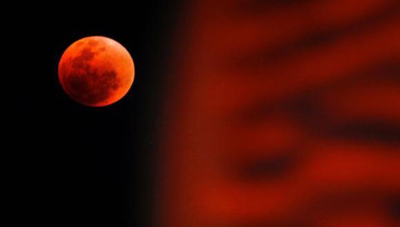 La luna se teñirá de rojo mañana