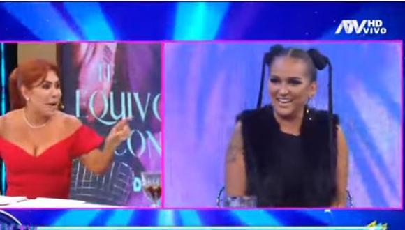 Daniela Darcourt deja entrever que Magaly Medina viajará con Alfredo Zambrano. (Foto: captura de video)