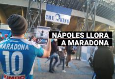 Nápoles llora a Maradona: hinchas rinden homenaje al crack del fútbol