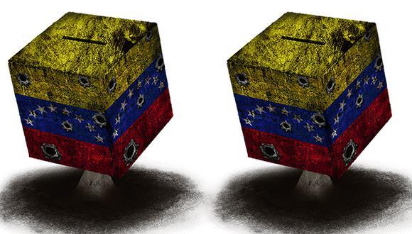 """""""El liderazgo de la Asamblea Nacional de Guaidó es la última esperanza para una solución negociada bajo una fuerte presión internacional para celebrar elecciones libres en Venezuela"""". (Ilustración: Giovanni Tazza)."""