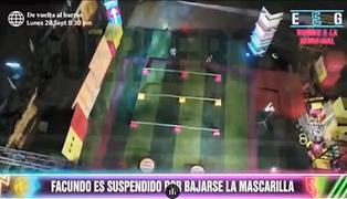 EEG: Facundo González fue suspendido del programa por bajarse la mascarilla