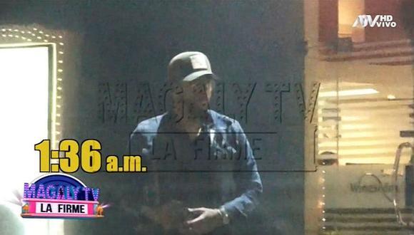 Así reaccionó Pedro Gallese al ser captado saliendo de hotel en San Miguel. (Imagen: ATV)