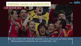 España recuerda la victoria ante Italia en la final de la Eurocopa 2012