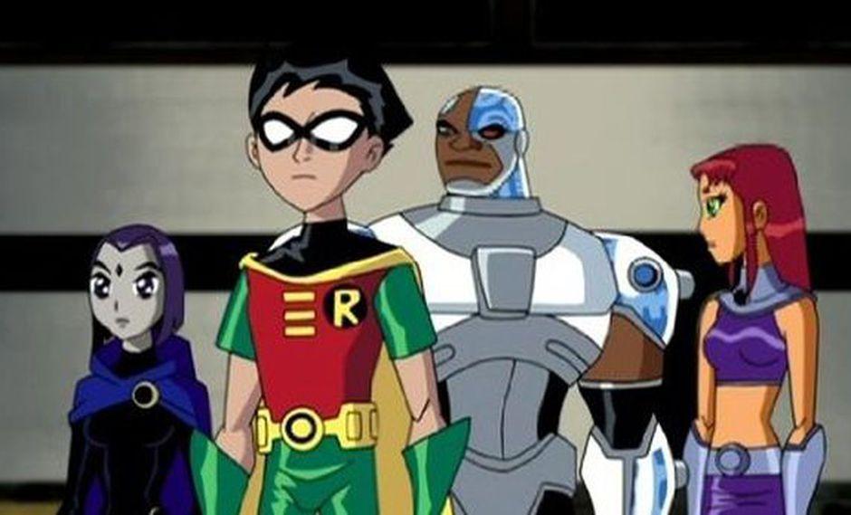 Raven, Robin, Cyborg y Starfire. Solo falta Chico Bestia en la imagen (Foto: Cartoon Network)