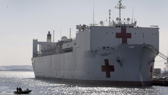 Estados Unidos desplegará el buque hospital USNS Comfort para atender la crisis de Venezuela. (AFP).