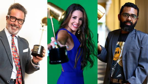 Carlos Carlín, Rebeca Escribens y Enmanuel Grau; algunos de los ganadores de los Premios Luces 2020. Fotos: El Comercio.