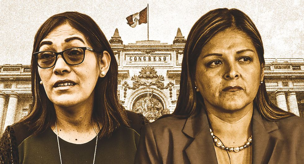 Milagros Salazar y Karina Beteta retornan al Congreso, esta vez como asesoras de comisiones presididas por legisladores de Fuerza Popular. (Composición: El Comercio)