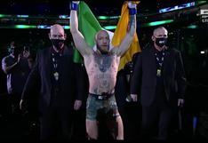 McGregor vs. Poirier en vivo: así ingresó 'The Notorious' al octágono del UFC 257