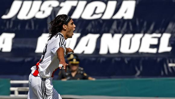 Radamel Falcao podría regresar a River Plate con una condición. AFP PHOTO/Alejandro PAGNI (Photo by ALEJANDRO PAGNI / AFP)