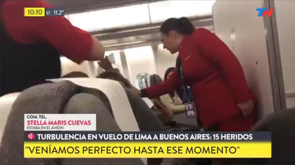Avianca: Vuelo de Perú a Argentina reporta 15 heridos por fuertes turbulencias. imagen: Captura de video