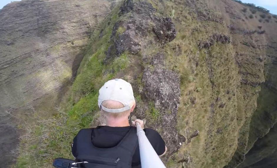 """Esta vista """"prohibida"""" de Hawái no es apta para cardíacos"""