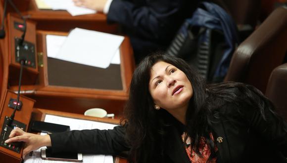 Yesenia Ponce, congresista de Fuerza Popular, ya tiene un par de procesos dentro de la Comisión de Ética. (Foto: Archivo El Comercio)