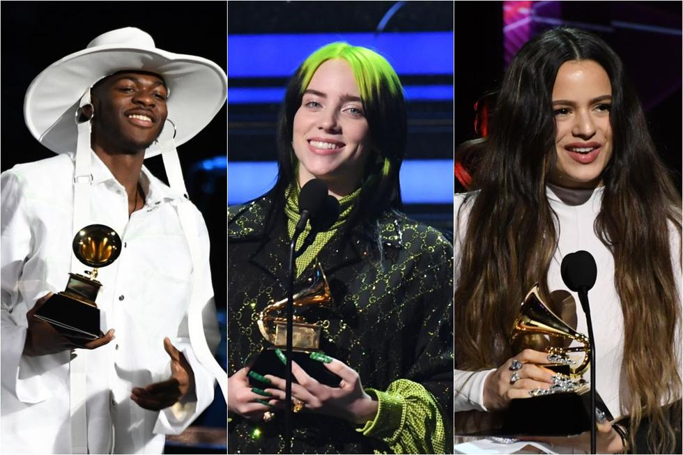 Billie Eilish, Rosalía y Lil Nas X ganaron un Grammy. (Foto: AFP)