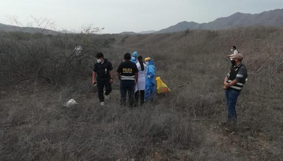 Encuentran muerto dentro de un saco a vigilante desaparecido en Lambayeque. (Foto: PNP)