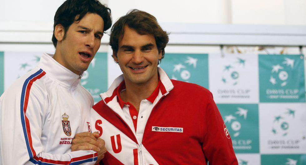 Federer regresa mañana a la Copa Davis y entrena con Wawrinka - 2