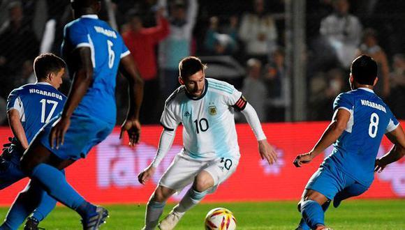 Lionel Messi durante un amistoso entre Argentina y Nicaragua. (Foto: EFE)