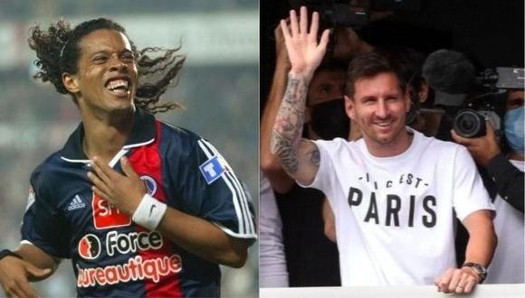 El mensaje de Ronaldinho a Lionel Messi tras llegar a PSG. (Foto: AFP)