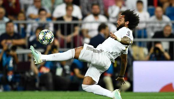 Marcelo sufrió una lesión y se perderá el partido de Real Madrid de LaLiga. (Foto: AFP)