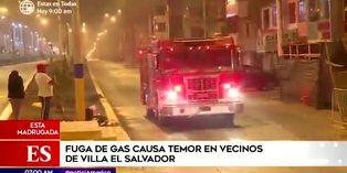 Villa El Salvador: reportan fuga de gas durante toque de queda