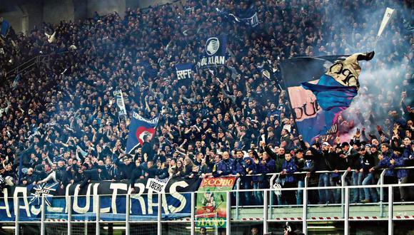 Más de 40 mil habitantes de Bérgamo poblaron las tribunas del San Siro, de Milán, aquel día de febrero. (Foto: EFE)