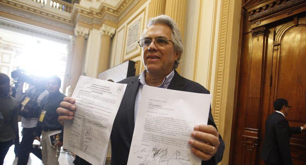 """Costa indicó que """"urge"""" que esta iniciativa, que empodera a la SBS, sea debatida y aprobada este jueves. (Foto: Hugo Pérez/ El Comercio)"""