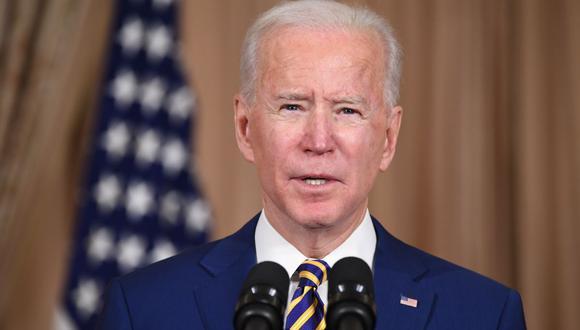 El presidente de Estados Unidos, Joe Biden, pronuncia su primer discurso sobre política exterior. (SAUL LOEB / AFP).