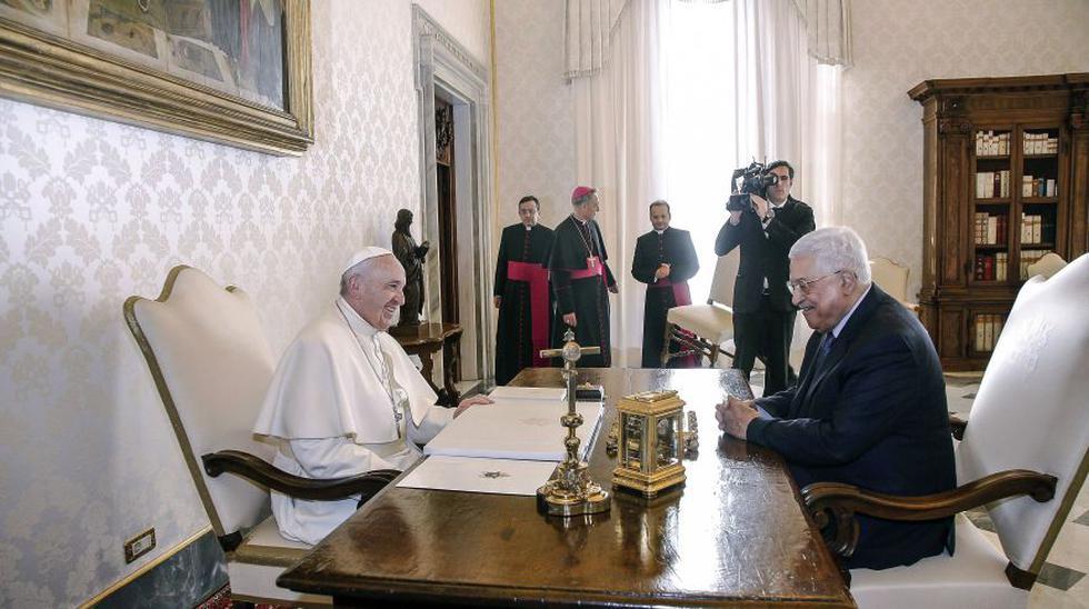 Papa y presidente de Palestina se reunieron en Vaticano [FOTOS] - 3