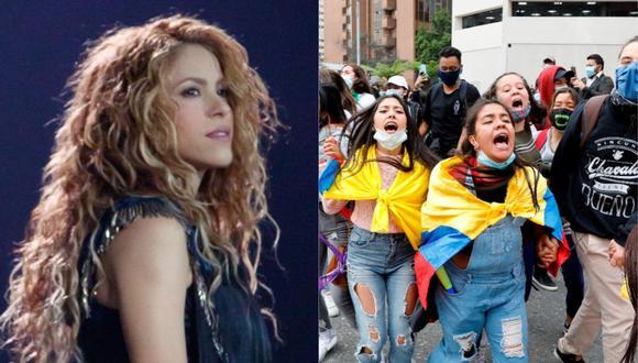 Shakira se pronuncia por la represión a las protestas en Colombia. (Foto: @shakira/EFE).