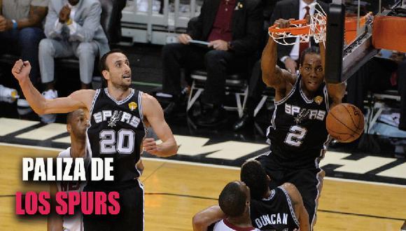 NBA: Los Spurs vencieron a Miami Heat y lideran la serie 3-1
