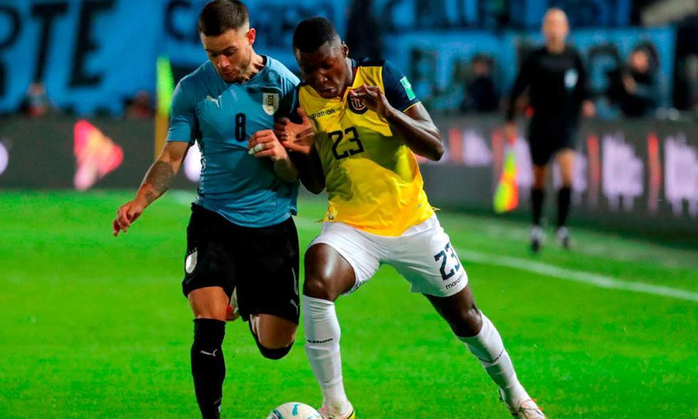 Uruguay vs. Ecuador chocan por las Eliminatorias Qatar 2022 | Foto: EFE.